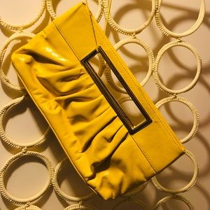 Handbags - Vintage yellow patent pleather in great condition